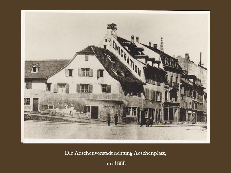 Die Aeschenvorstadt richtung Aeschenplatz,