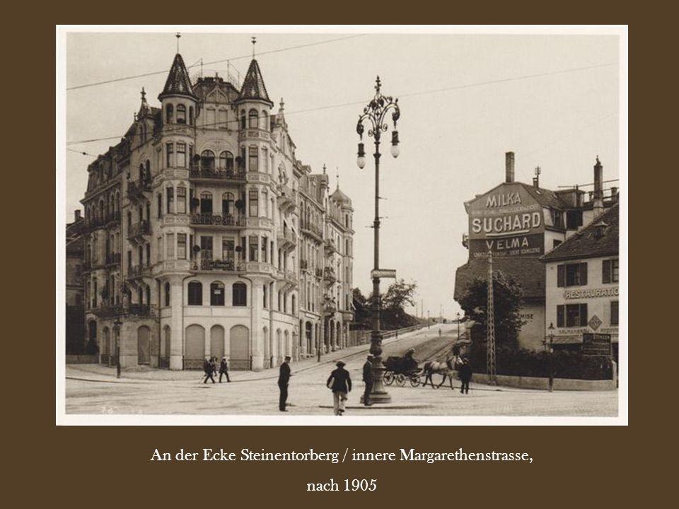 An der Ecke Steinentorberg / innere Margarethenstrasse,