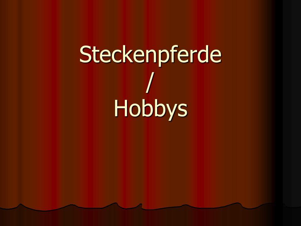 Steckenpferde / Hobbys
