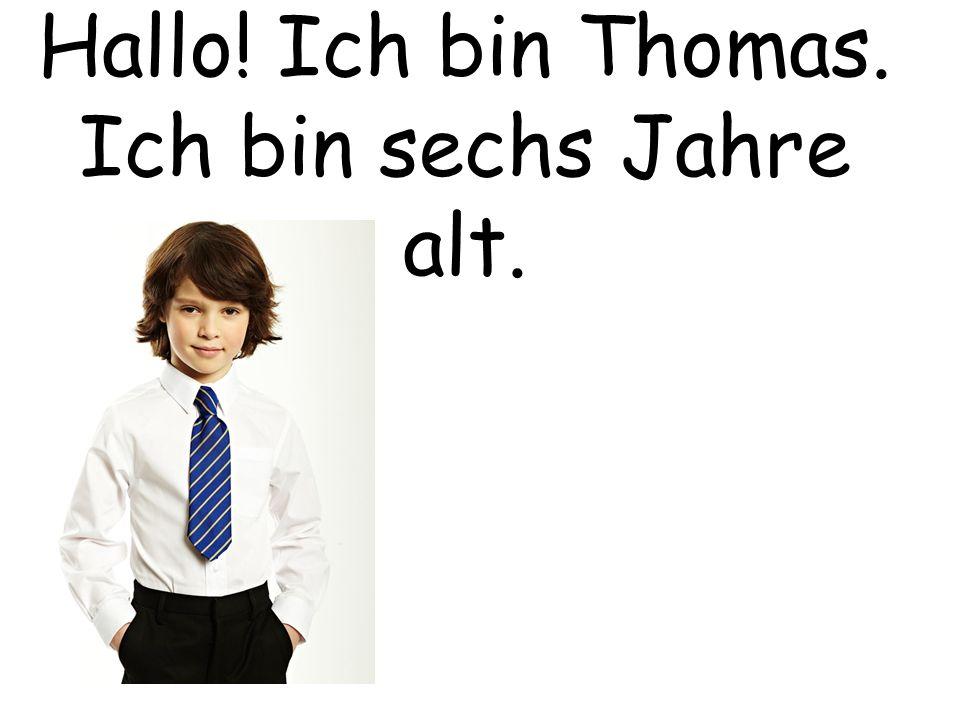 Hallo! Ich bin Thomas. Ich bin sechs Jahre alt.
