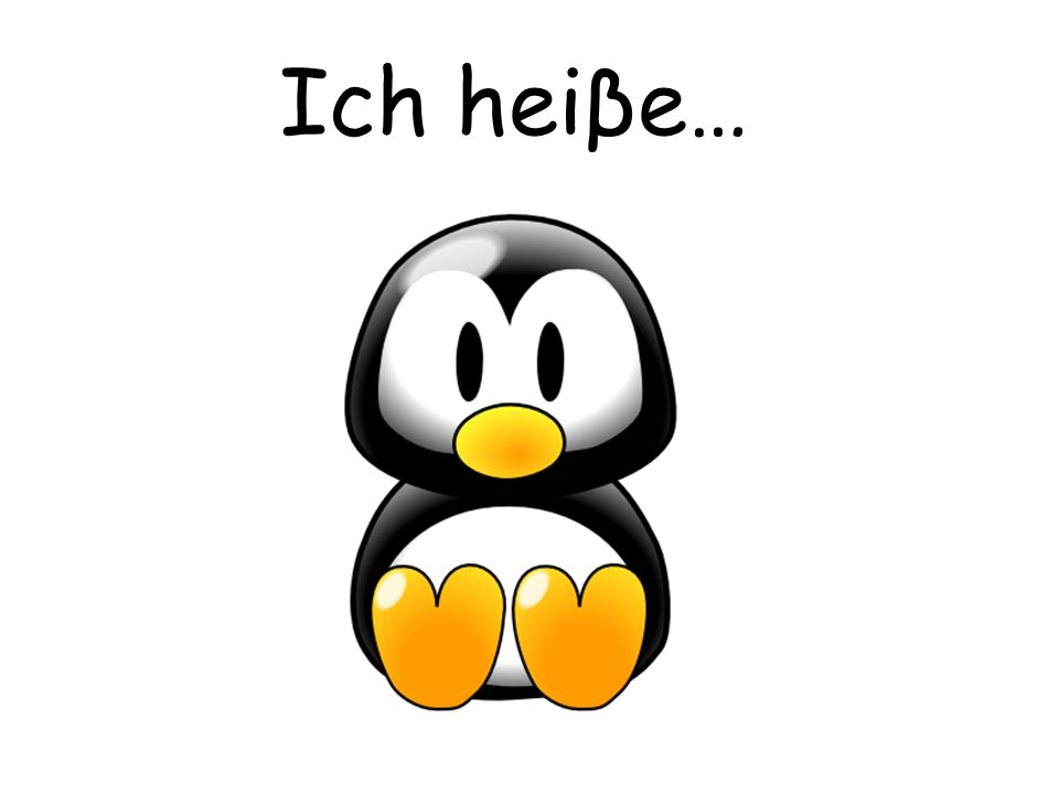 Ich heiβe… Pupils can choose a name for the penguin.