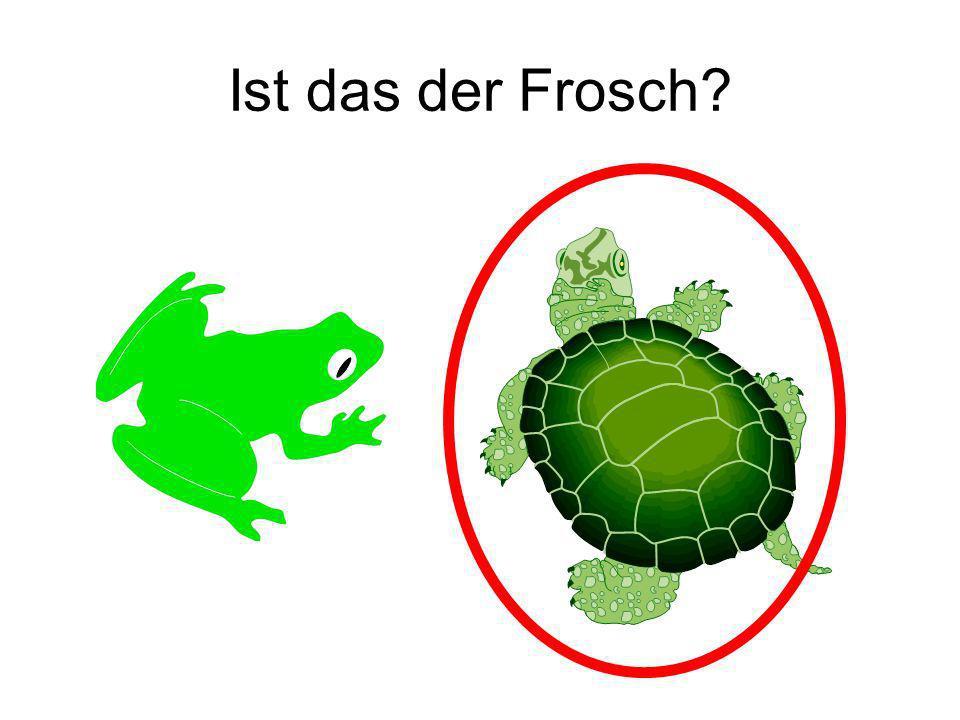 Ist das der Frosch Nein!
