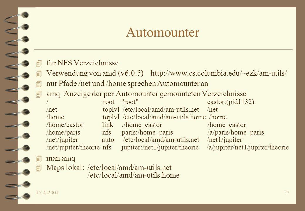 Automounter für NFS Verzeichnisse