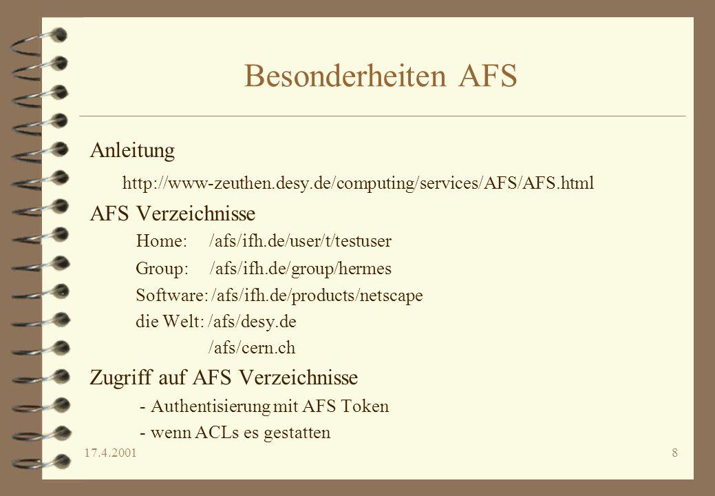 Besonderheiten AFS Anleitung