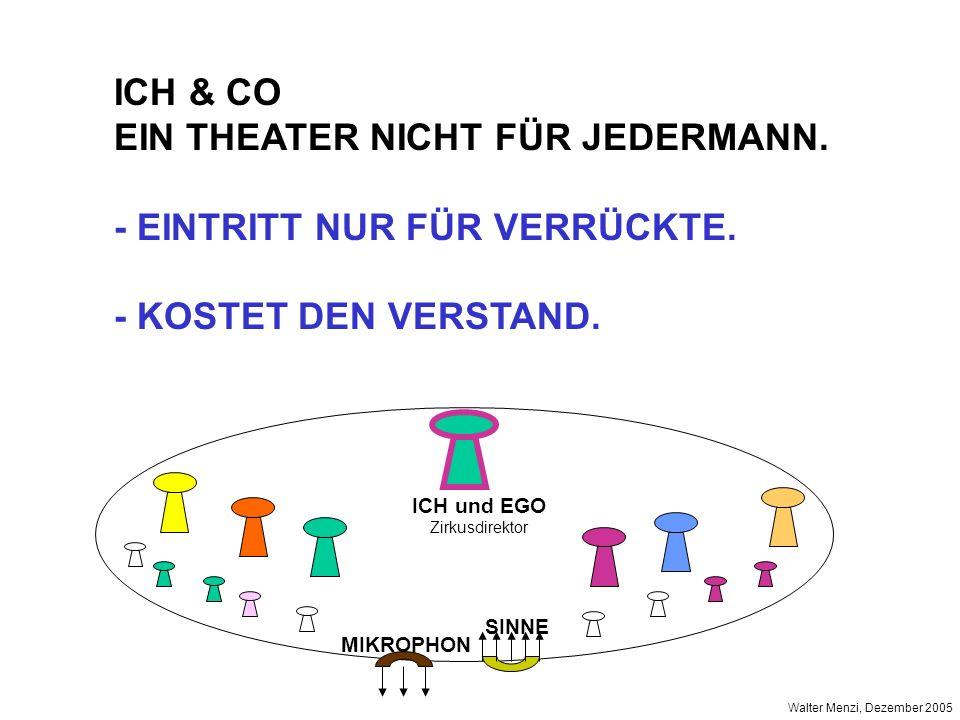 EIN THEATER NICHT FÜR JEDERMANN. - EINTRITT NUR FÜR VERRÜCKTE.