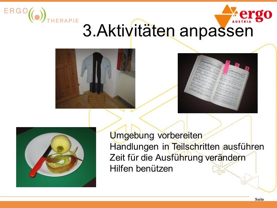 3.Aktivitäten anpassen Umgebung vorbereiten