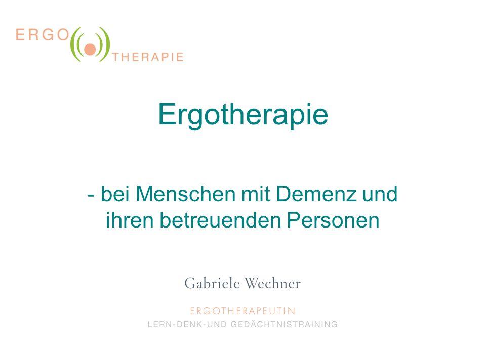 - bei Menschen mit Demenz und ihren betreuenden Personen