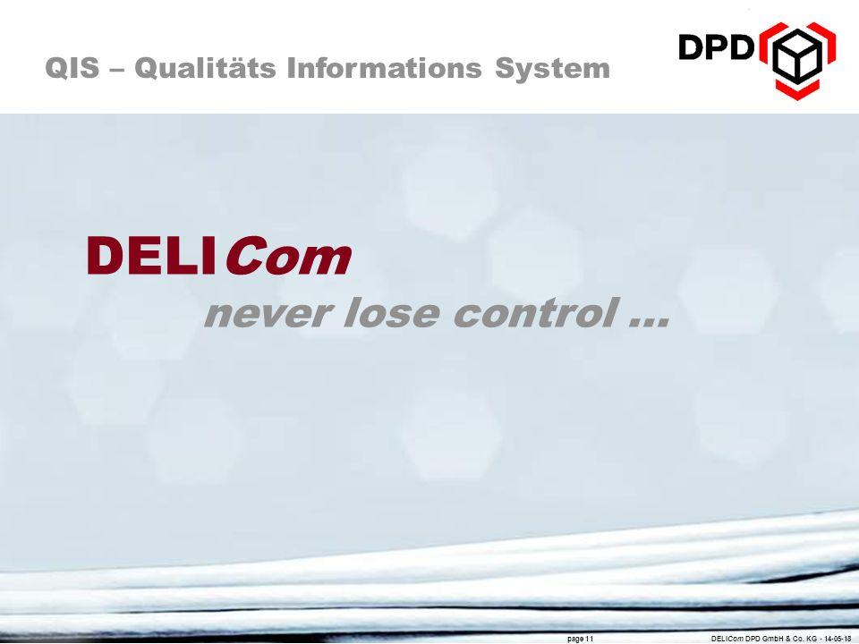 DELICom never lose control ...
