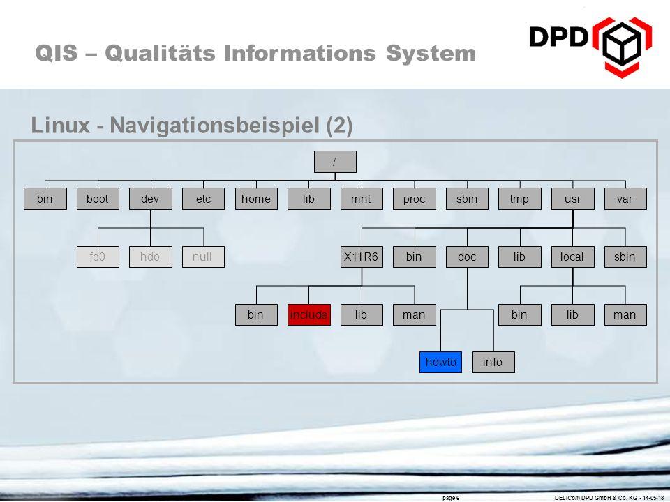 Linux - Navigationsbeispiel (2)