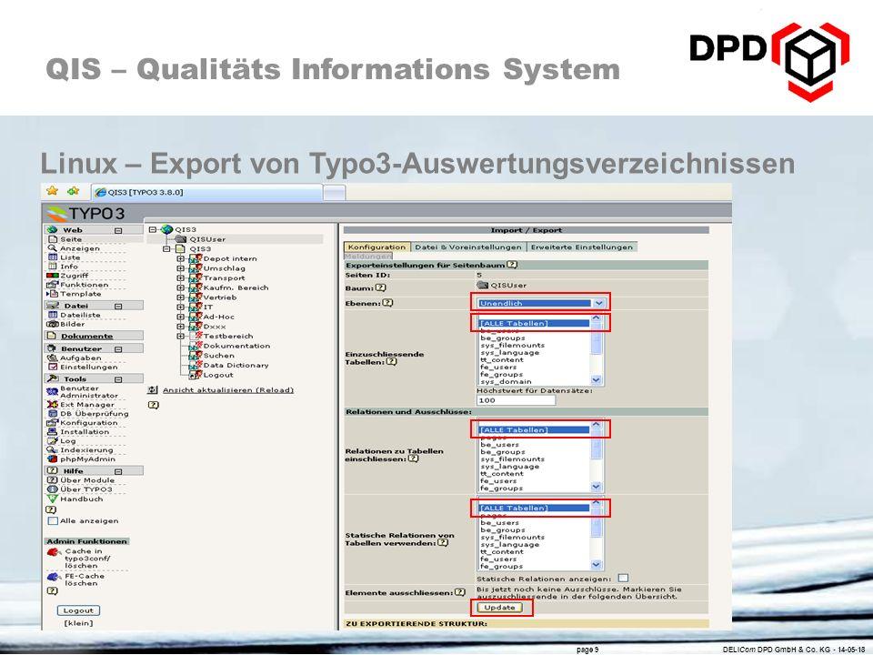 Linux – Export von Typo3-Auswertungsverzeichnissen