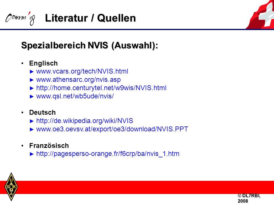 Literatur / Quellen Spezialbereich NVIS (Auswahl):