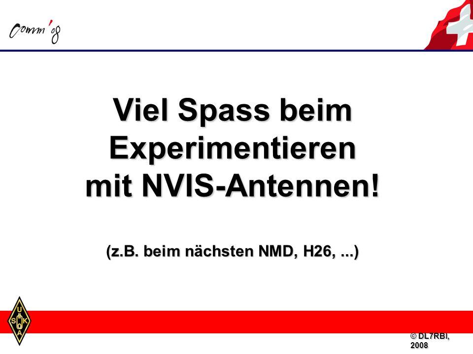 Viel Spass beim Experimentieren (z.B. beim nächsten NMD, H26, ...)
