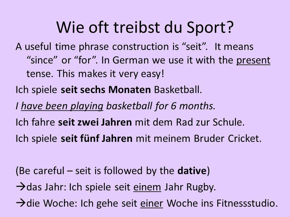Wie oft treibst du Sport