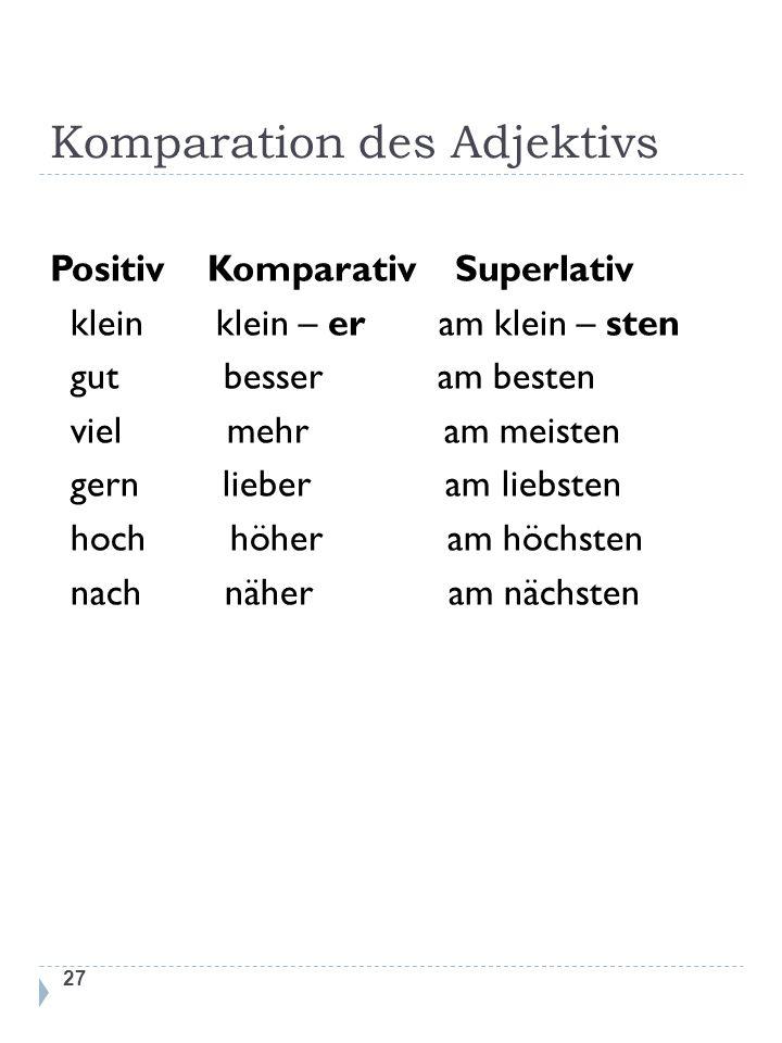 Komparation des Adjektivs