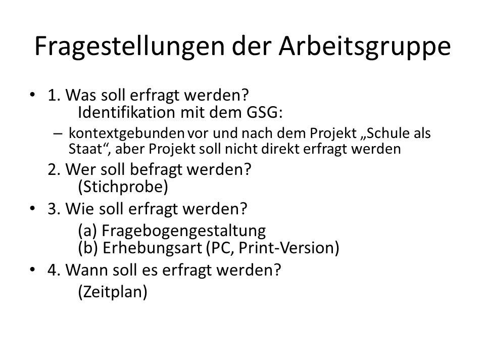 Fragestellungen der Arbeitsgruppe