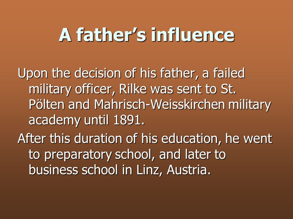 A father's influence