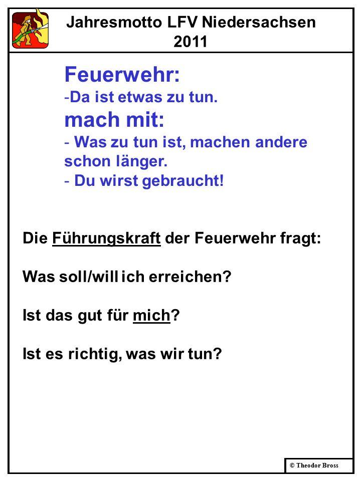 Jahresmotto LFV Niedersachsen