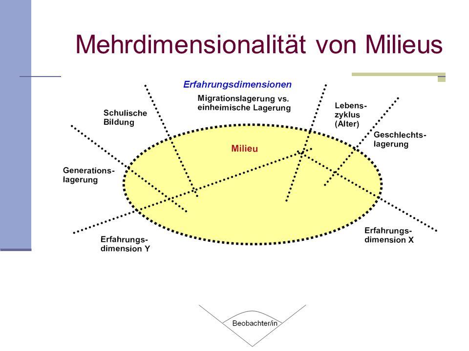 Mehrdimensionalität von Milieus
