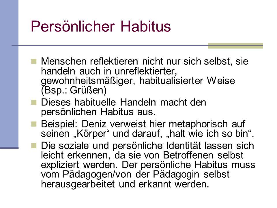 Persönlicher Habitus