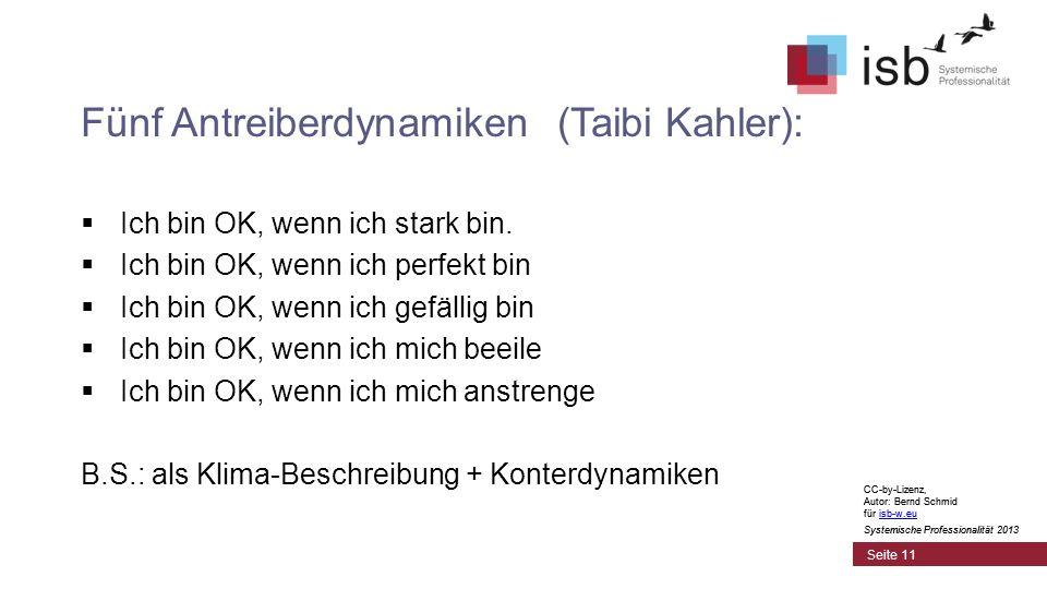Fünf Antreiberdynamiken (Taibi Kahler):
