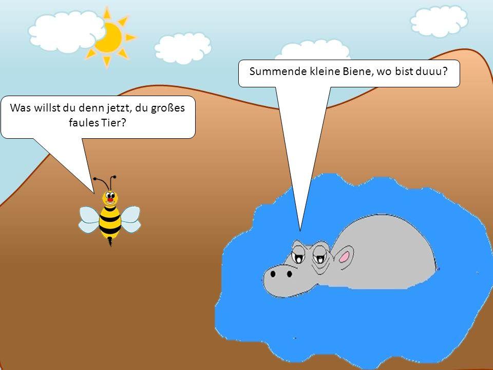 Summende kleine Biene, wo bist duuu