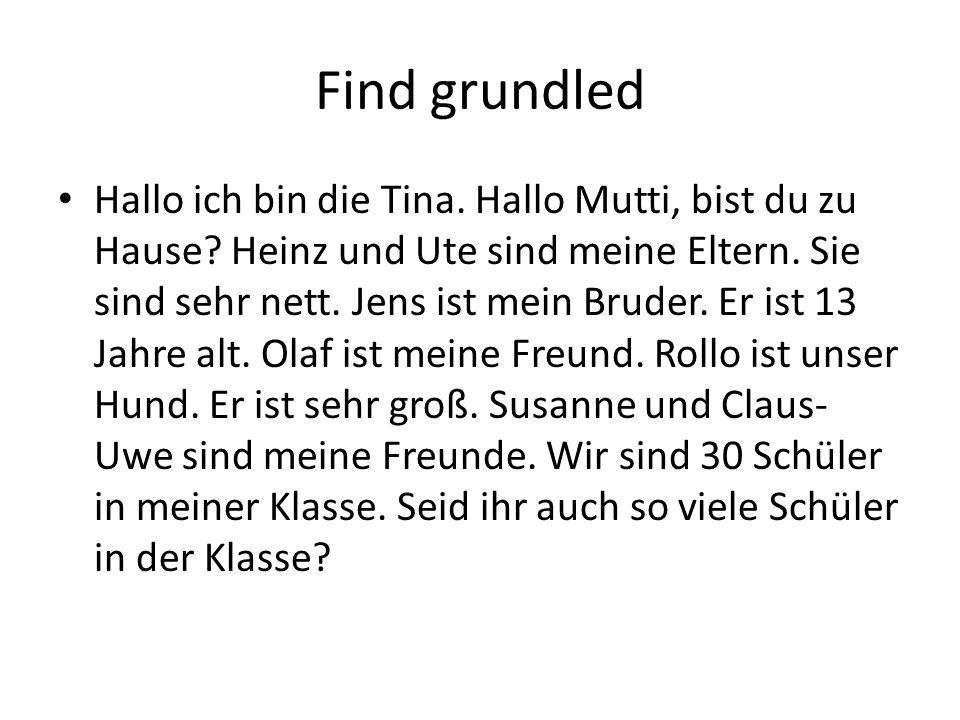 Find grundled