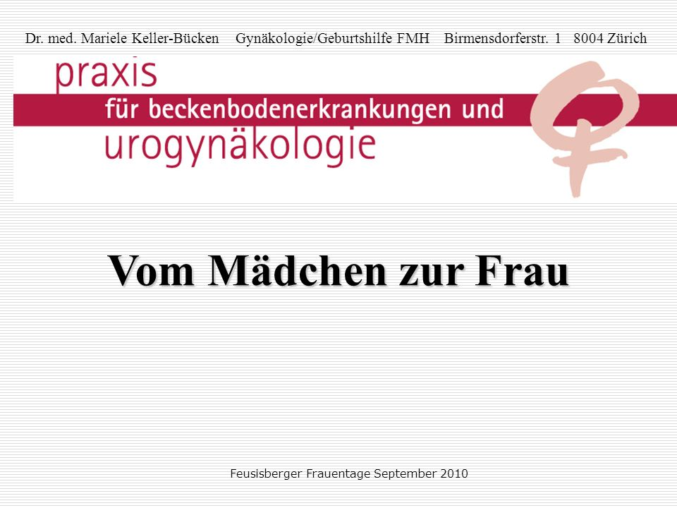 Feusisberger Frauentage September 2010