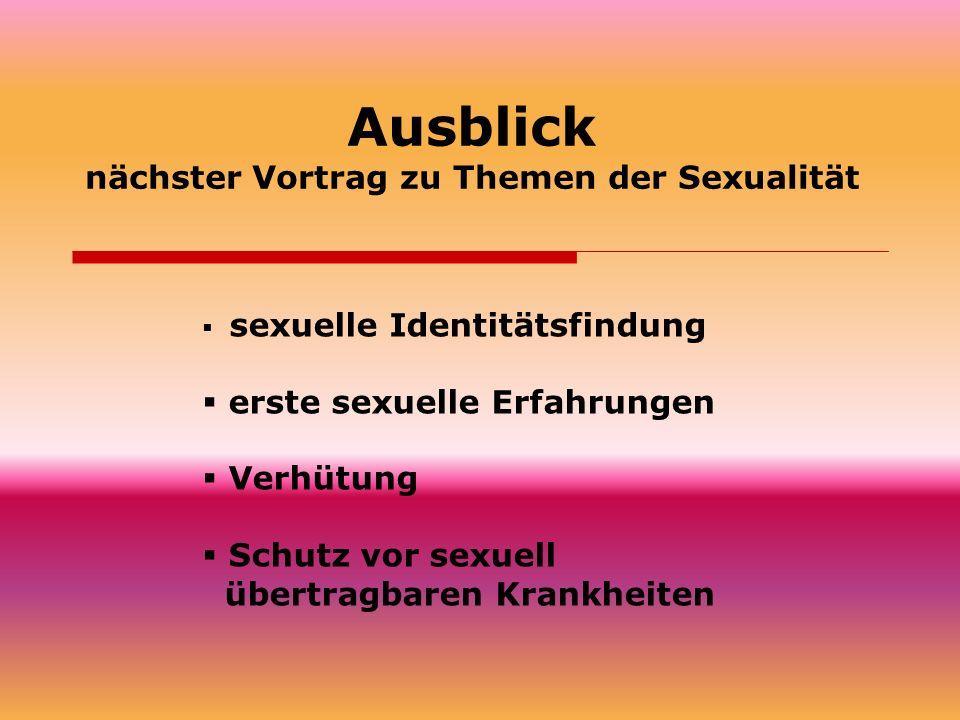 nächster Vortrag zu Themen der Sexualität