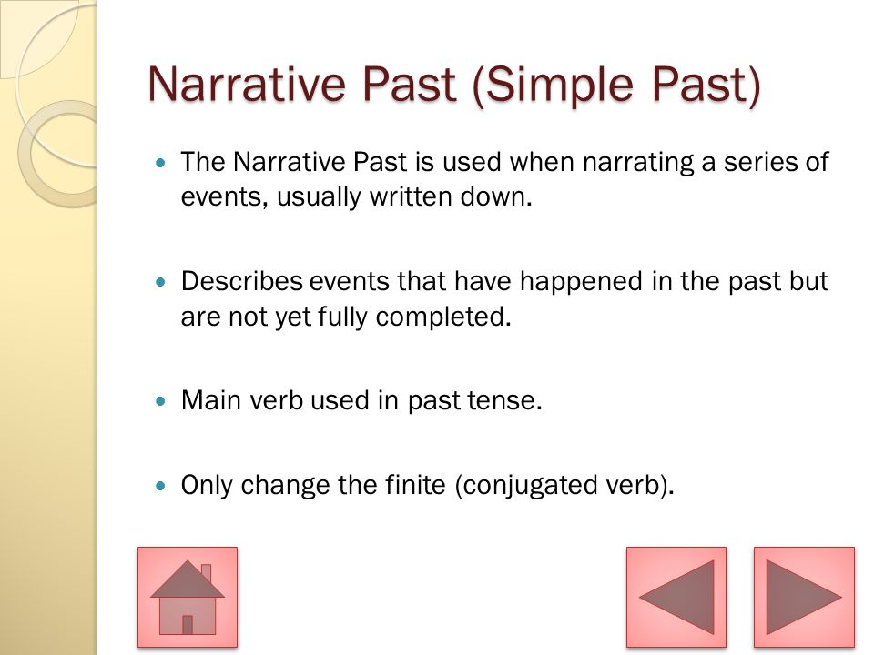 Narrative Past (Simple Past)