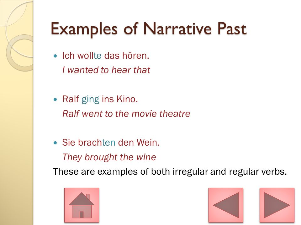 Examples of Narrative Past