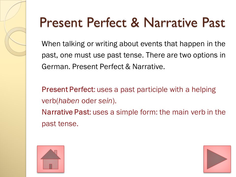 Present Tense Narrative