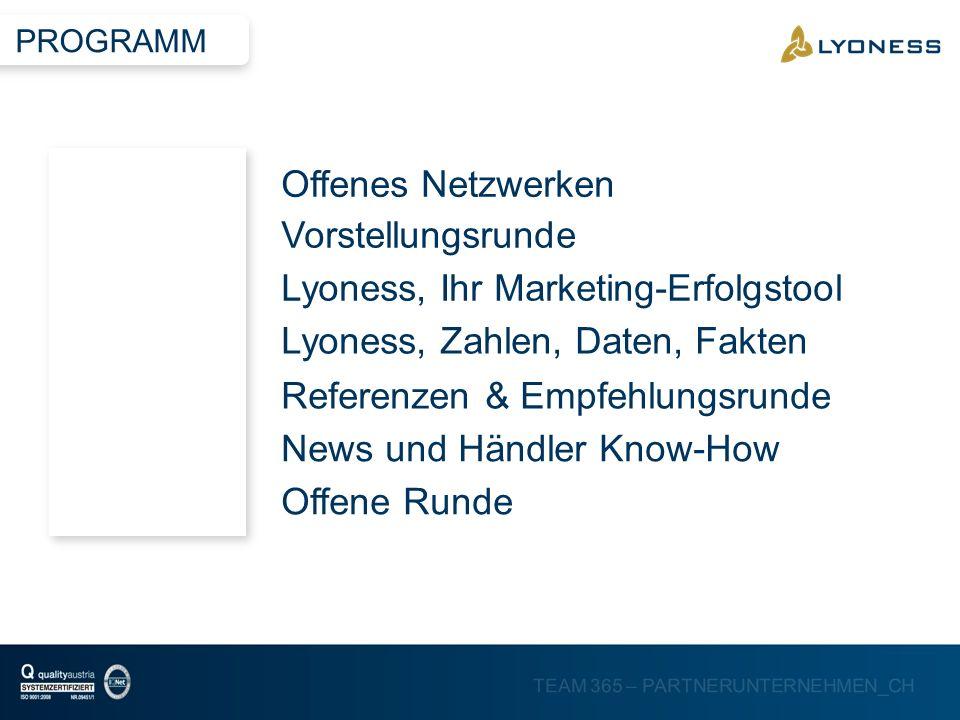 Lyoness, Ihr Marketing-Erfolgstool Lyoness, Zahlen, Daten, Fakten
