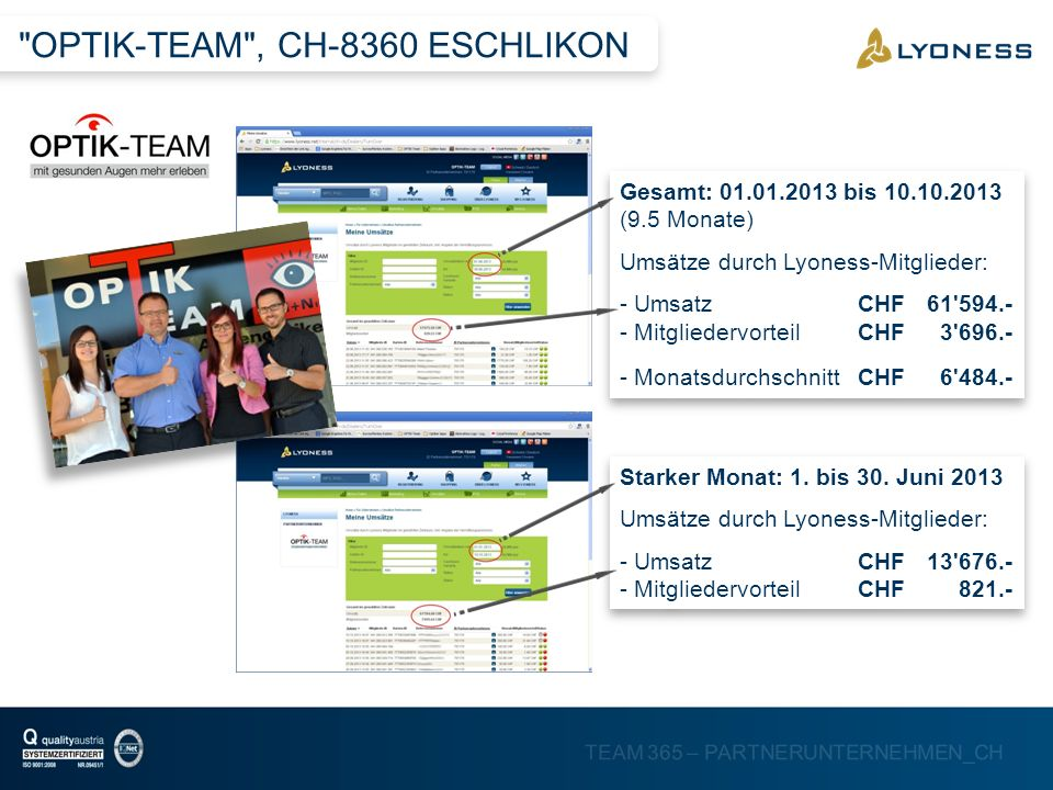 OPTIK-TEAM , CH-8360 ESCHLIKON