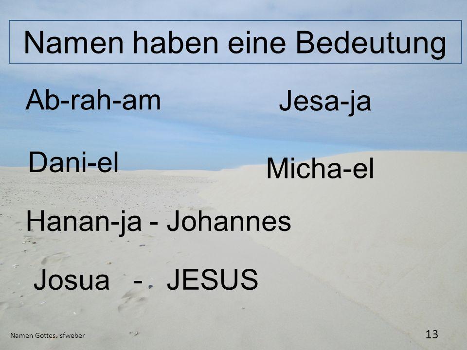 Namen haben eine Bedeutung