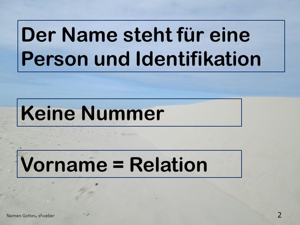 Der Name steht für eine Person und Identifikation
