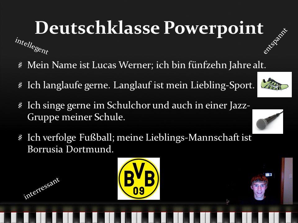 Deutschklasse Powerpoint