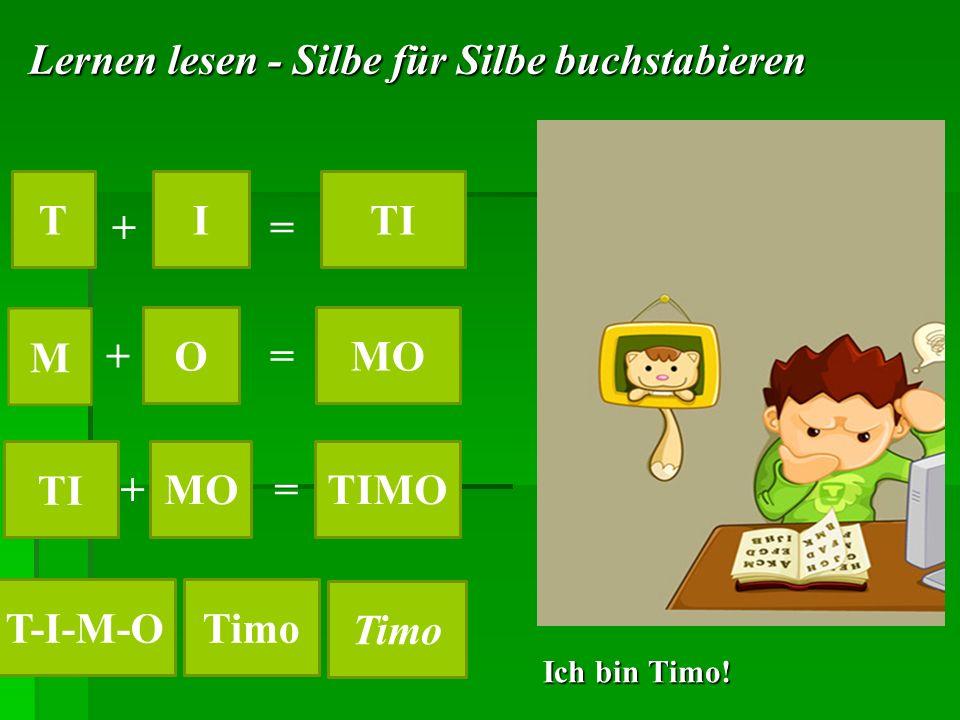 Lernen lesen - Silbe für Silbe buchstabieren