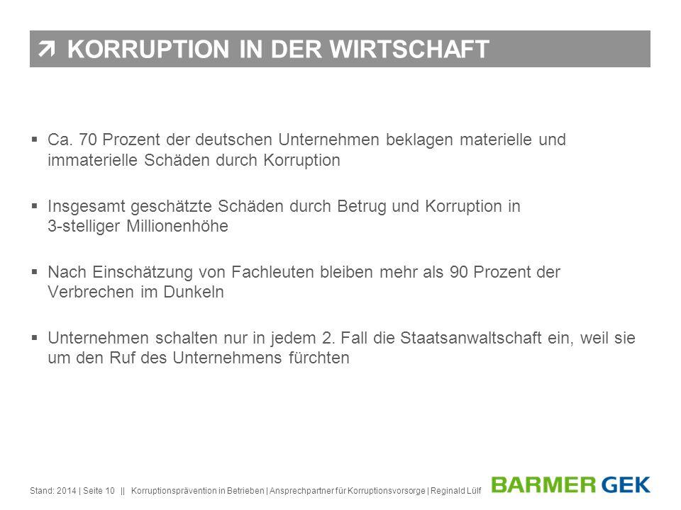 KORRUPTION IN DER WIRTSCHAFT