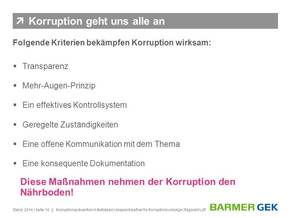 Korruption geht uns alle an