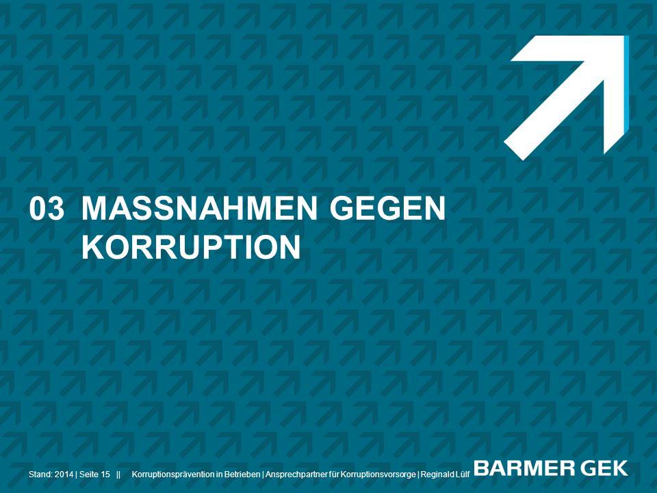 03 MASSNAHMEN GEGEN KORRUPTION