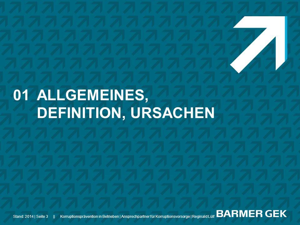 01 ALLGEMEINES, DEFINITION, URSACHEN