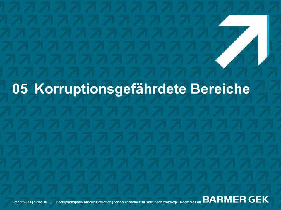 05 Korruptionsgefährdete Bereiche