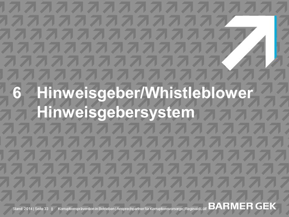 Hinweisgeber/Whistleblower Hinweisgebersystem