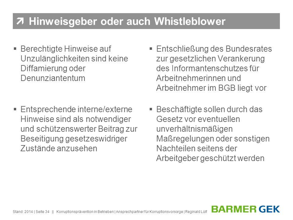 Hinweisgeber oder auch Whistleblower