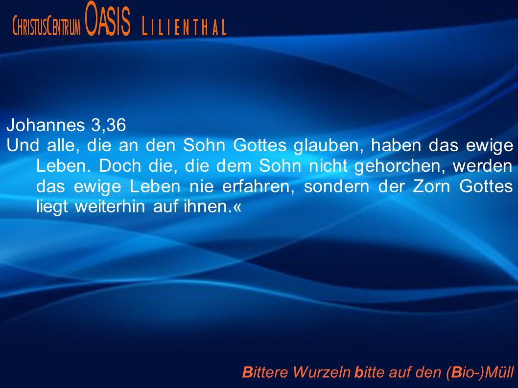 Johannes 3,36