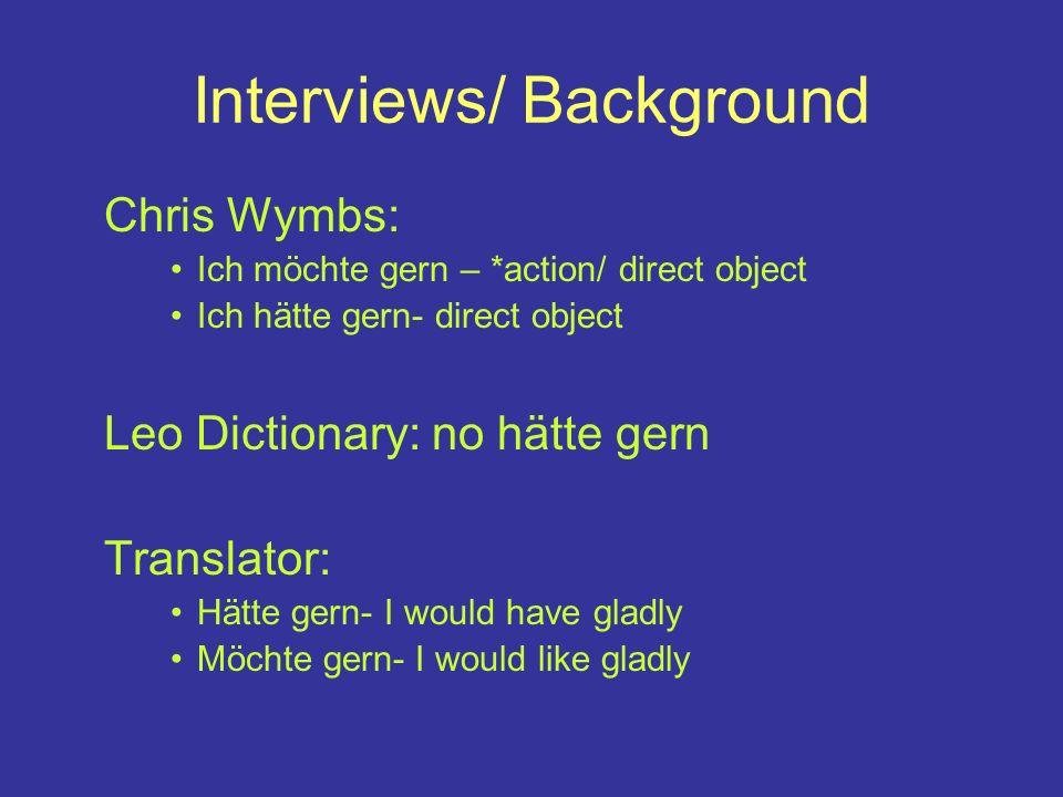 Interviews/ Background