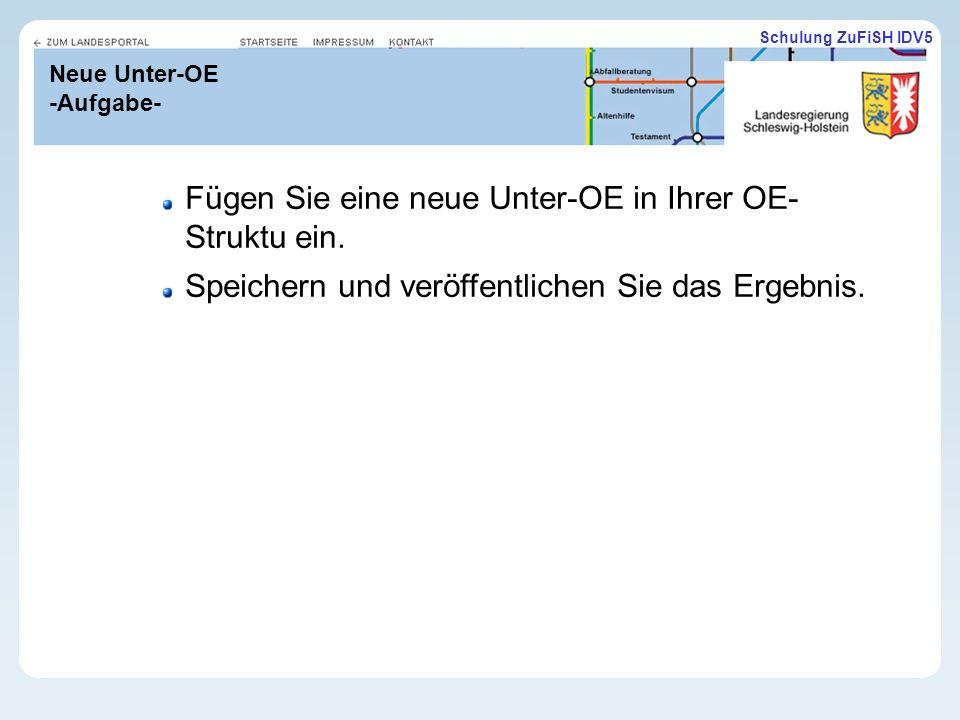 Neue Unter-OE -Aufgabe-