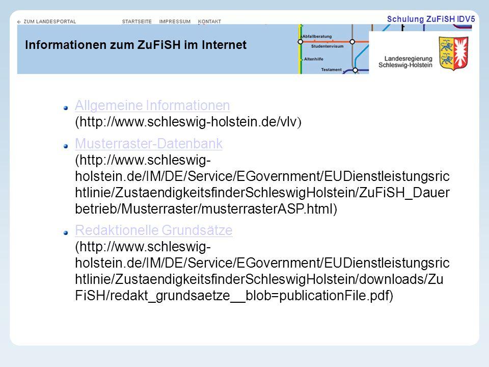Informationen zum ZuFiSH im Internet