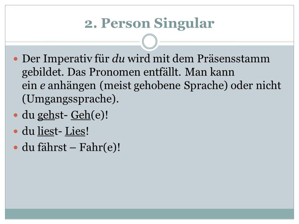 2. Person Singular