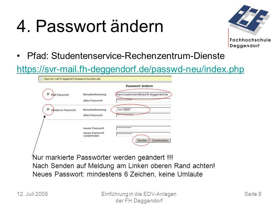 Einführung in die EDV-Anlagen der FH Deggendorf